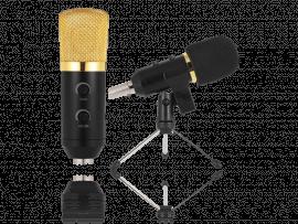 Podcast Mikrofon m/ stativ