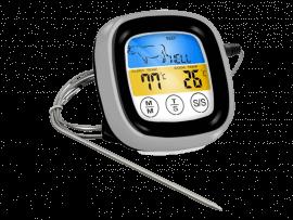 Digitalt Stegetermometer m. Timer & Touch Skærm