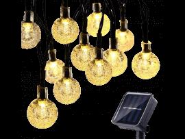 Solcelle Lyskæde 20-LED m. 8 Funktioner - 6,5 m