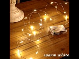 Batteri Wire Lyskæde med 50 LED - Indendørs