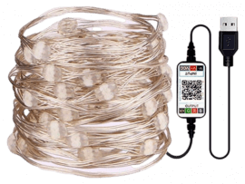 LED String m. Bluetooth & Fjernbetjening