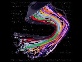 Brillesnor i Flettet Nylon - 12 stk. i Multifarver