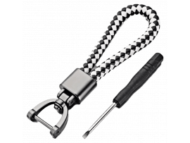 Stylish PU Læder Nøglering