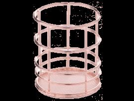 Trådkurv i Rose Gold Mesh Makeup Opbevaringskurv