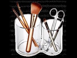 Transparent Holder til fx Makeup m. 2 Rum