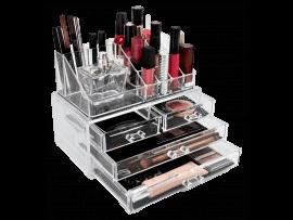 Gennemsigtig Makeup Opbevaringsbakke m. 4 Skuffer