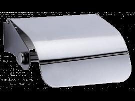 Toiletrulleholder m. Låg i Rustfrit Stål