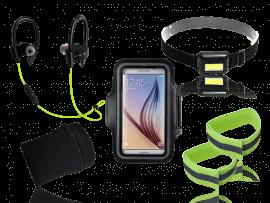 """Løbepakke med pandelampe (4.7 til 5.8"""" smartphones)"""