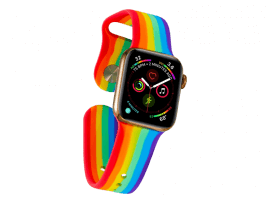 Rainbow rem Silikone til Apple Watch Series 1 / 2 / 3 / 4 / 5 38 mm & 40 mm