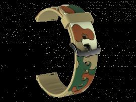 Camouflage rem til Samsung Gear S3 / Galaxy Watch 46mm-Lysegrøn