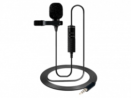 Clip-On Mikrofon m/ 6 m Kabel til Smartphones & Kamera