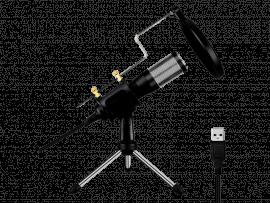 USB Mikrofon m. Tripod & Popfilter
