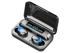 F9-6 Trådløse Earbuds m. Touch & Opladningsetui