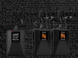2 Stk. Trådløse Knaphulsmikrofoner med Receiver