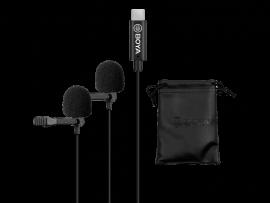 Dobbelt klemme mikrofon m. USB-C