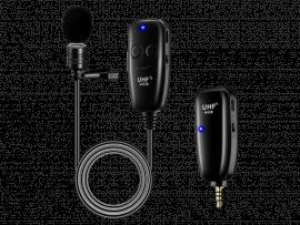 Trådløs Clip-On Mikrofon til Smartphones / Kamera