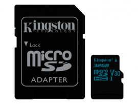 Kingston Canvas Go! MicroSD inkl. Adapter