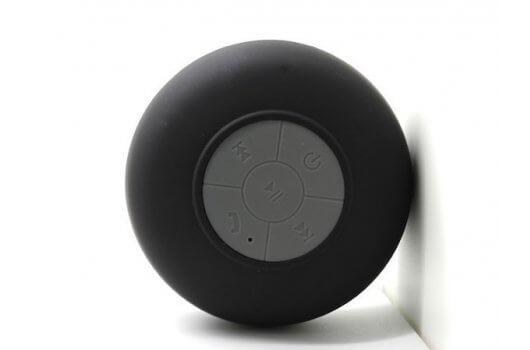 Vandtæt højtaler til badet med sugekop - Sort