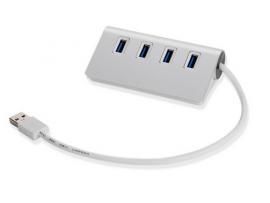 USB hub 3.0 m/4 port i aluminium