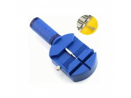 Værktøj til skift af led i metal-urrem