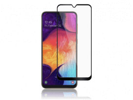 Sort Buet Hærdet Beskyttelsesglas til Samsung Galaxy A40