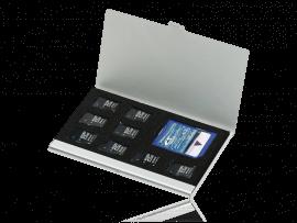 Alu Etui til 9 hukommelseskort