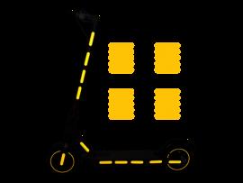 20-Pak Refleksklistermærker til El-Løbehjul