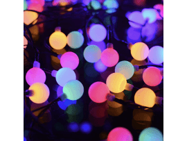 30-LED Solcelle Lyskæde m. Flerfarvet Lys