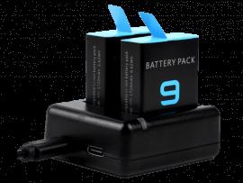 Dobbelt Batteri Oplader til GoPro HERO 9 Black