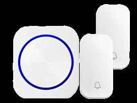 2-i-1 Trådløs Batterifri Ringeklokke