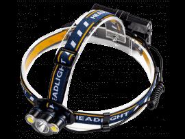 Genopladelig Pandelampe m/ 3 LED-Pærer