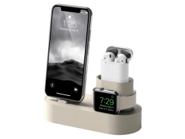 3-i-1 Dock til Apple Watch, iPhone & AirPods