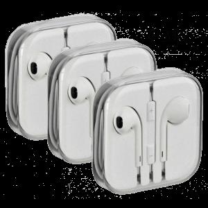 3 Stk. AUX Headset m. Mikrofon