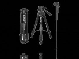 2-i-1 Tripod / Monopod Stativ til Kamera (47-143cm)