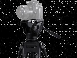 Stativhoved m. oliedæmpning til DSLR Kamera