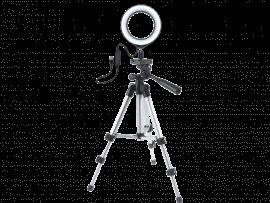 Mini Selfie Ring Lys m/ 20 LED pærer og stativ