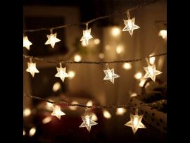 50 LED Lyskæde m. Stjerner