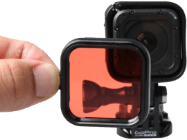 Dykkerfilter til GoPro 5 Session / 4 Session