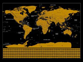 Skrabe Verdenskort / Scratch Map - 82x59 cm