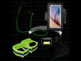 """Løbepakke med pandelampe (5.8 til 6.8"""" smartphones)"""