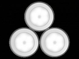 3 stk. Trådløse LED Lys m. Sensor