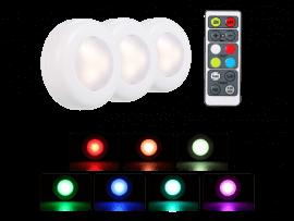 3-Pak Trådløse LED Lamper m. Fjernbetjening