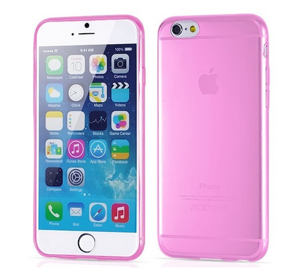 Transparent iPhone 6 / 6S cover-Pink