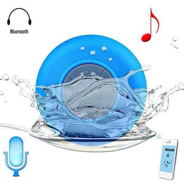 Vandtæt Højtaler til Badet med sugekop