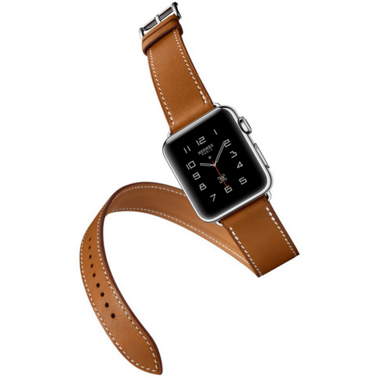 Image of   Dobbelt læderrem til Apple watch 42/44mm - Brun