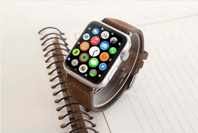 Brun læderrem til Apple watch