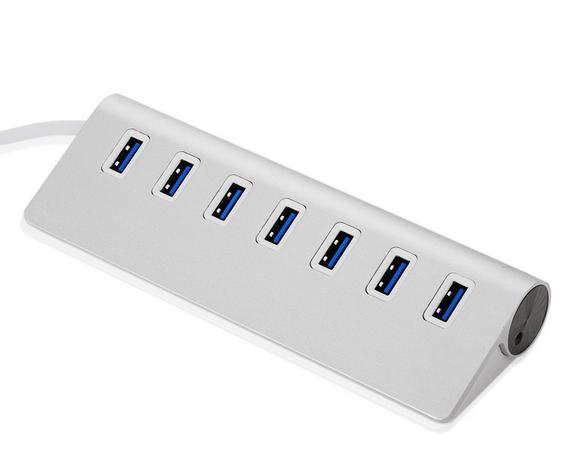 Billede af USB hub 3.0. m/7 port i aluminium