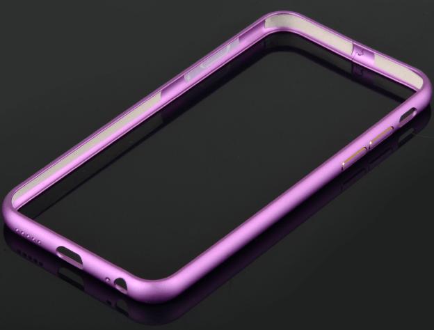 iPhone 6 / 6S bumper i børstet aluminium-Lilla
