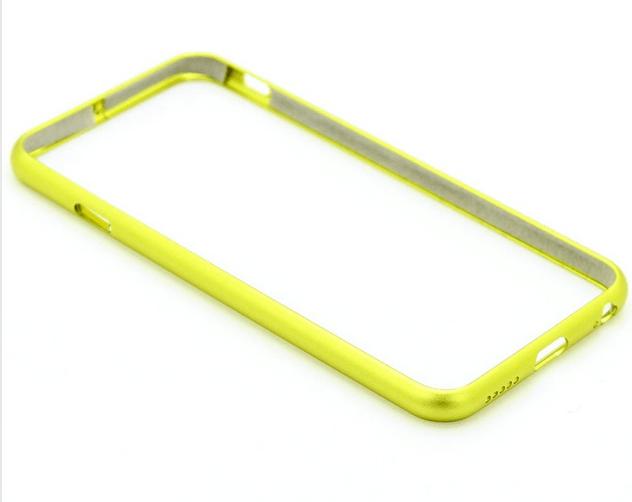 iPhone 6 / 6S bumper i børstet aluminium-Grøn