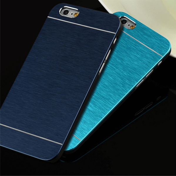 Cover i børstet aluminium til iPhone 5 / 5S / SE - Lyseblå